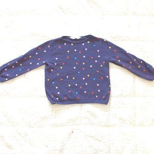 H&M kids size 2-4 girls sparkly heart sweater